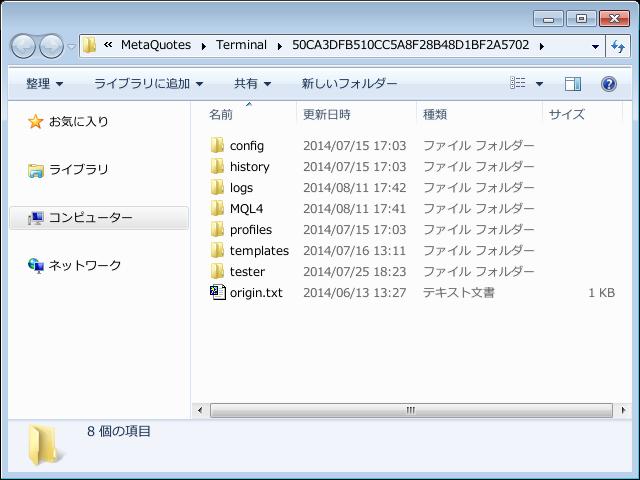 MetaTrader4のカスタム・インディケータの導入