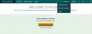 Poloniexからビットコインなどの仮想通貨の出金(送金)